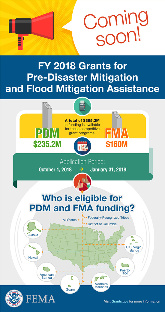 FEMA Overview of PDM and FMA Grants for 2018