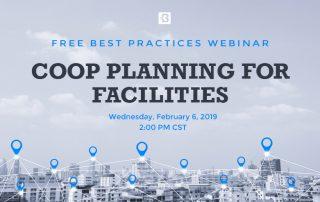 COOP Planning for Facilities Webinar