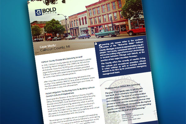 Case Study: Calhoun County, MI Hazard Mitigation & COOP Planning