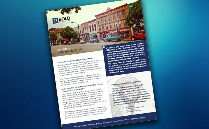 Free Resource: Calhoun County HMP and EOP Case Study