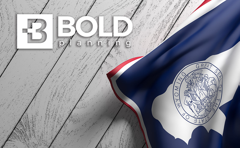 BOLDplanning logo and Wyoming state flag