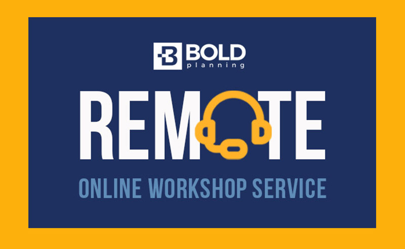 BOLDplanning Remote Online Planning Workshops