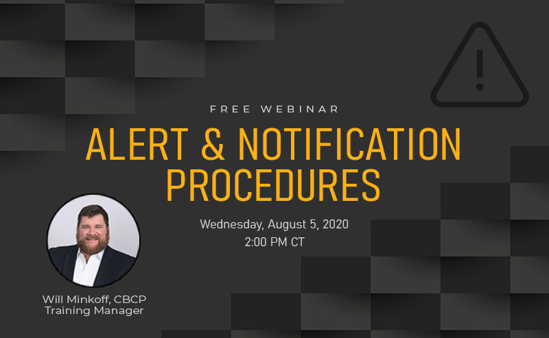 Don't Miss BOLDplanning's Webinar Wednesday Session: Alert and Notification Procedures